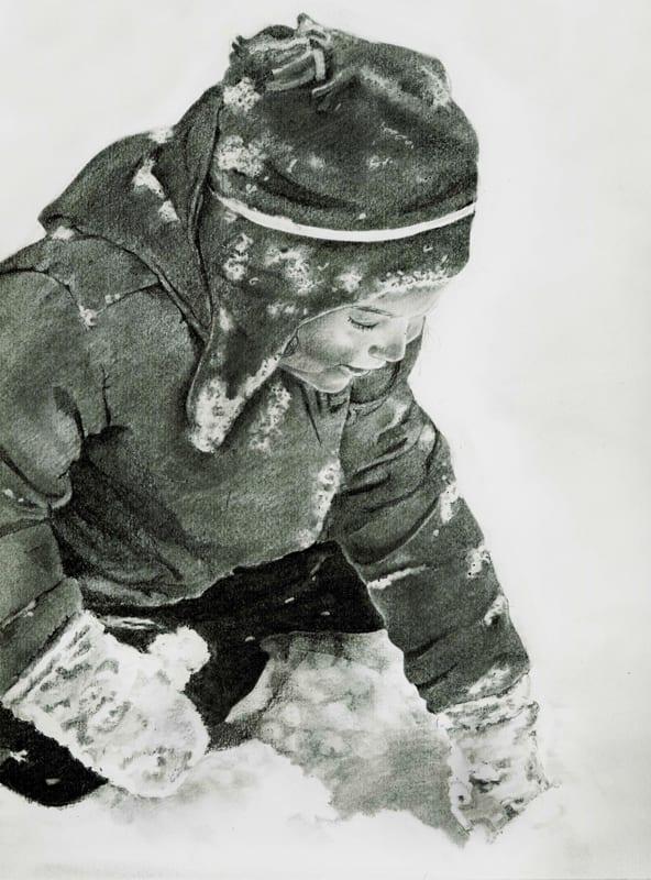 Eliza in the Snow